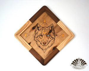 Wolf of the Night - Wood-burnt picture