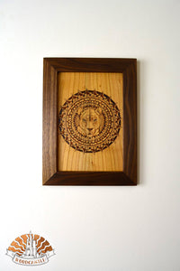Mother of Africa - Wood-burnt picture
