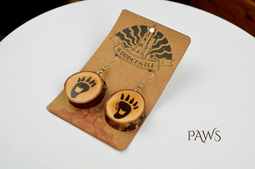 Animals wooden earrings (multiple designs available)