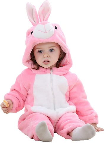 COOKY.D Unisex Baby Hooded Romper Outfits 0-24 Months