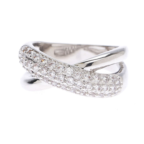 Criss Cross Cubic Zirconia Ring