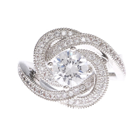 Cubic Zirconia Knot Ring