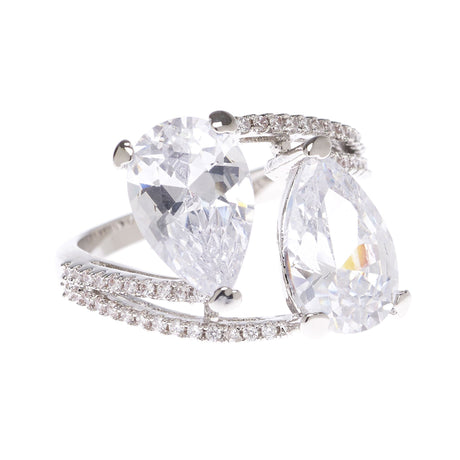 Double Pear Statement Ring