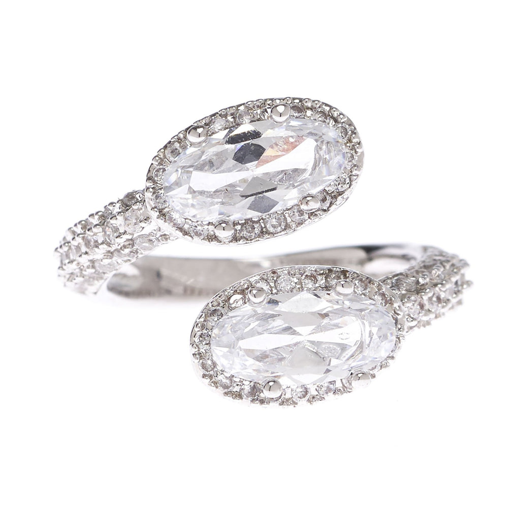 Open Center Double Oval Ring - Viamar Jewelry