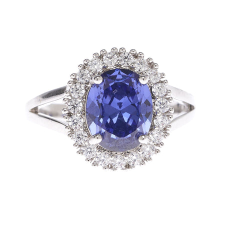 Tanzanite Royal Oval Ring - Viamar Jewelry