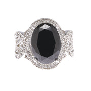 Jet Oval Statement Ring - Viamar Jewelry