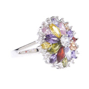 Multi-Colored Floral Statement Ring - Viamar Jewelry