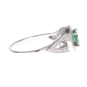 Brilliant Cut Emerald Cubic Zirconia Ring - Viamar Jewelry