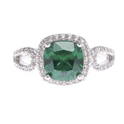 Radiant Cut Emerald Cubic Zirconia Ring - Viamar Jewelry