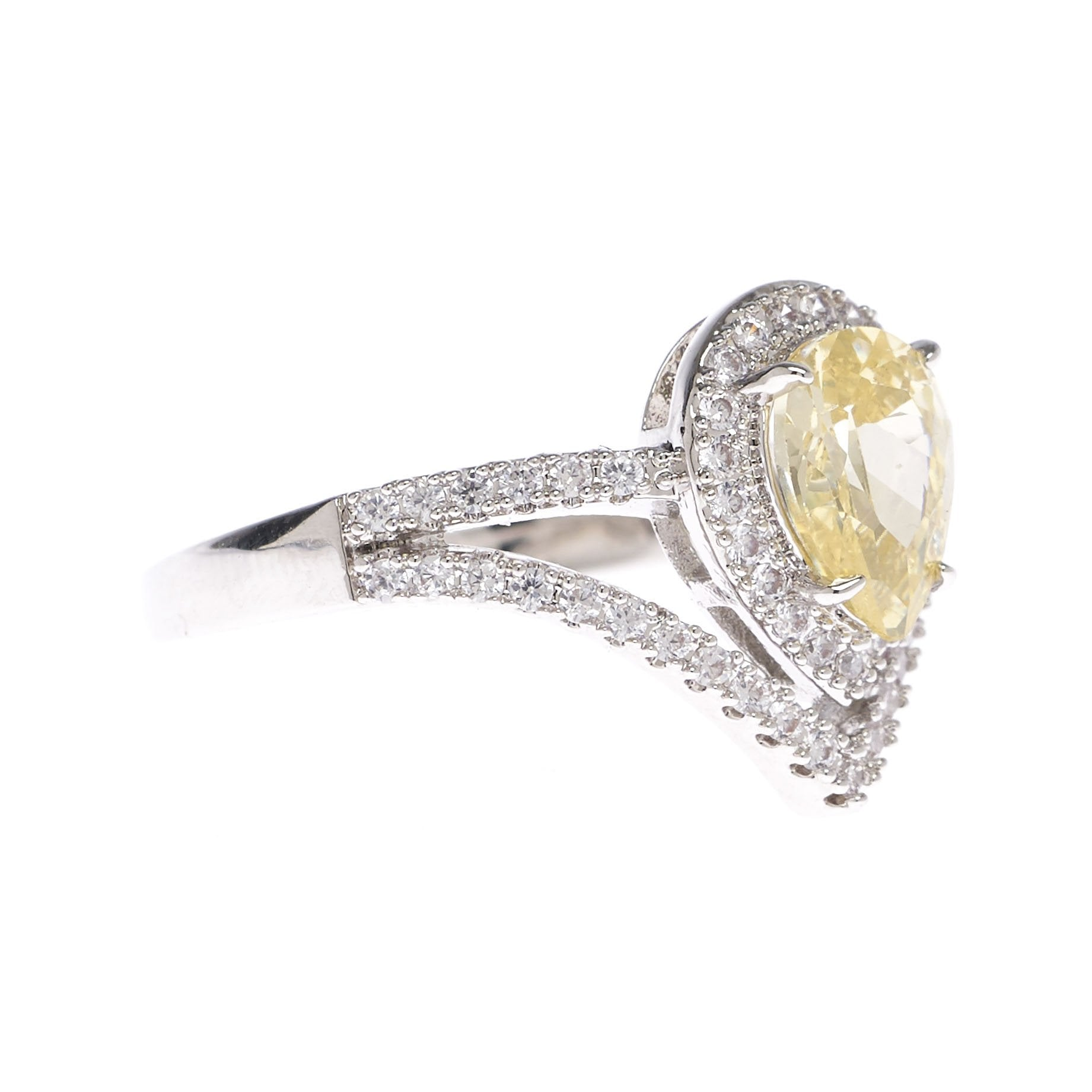 yellow gold rings engagement of diamond canary new