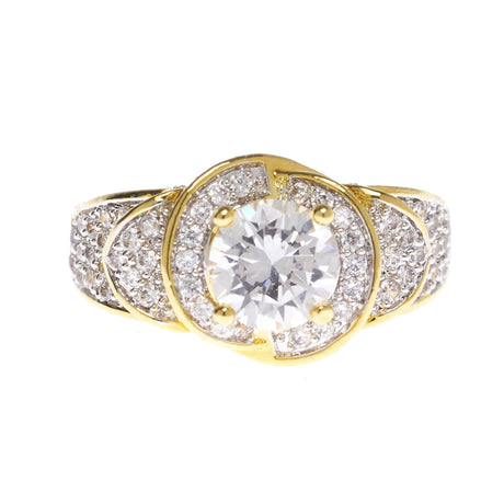Round Multi Level Cubic Zirconia Ring