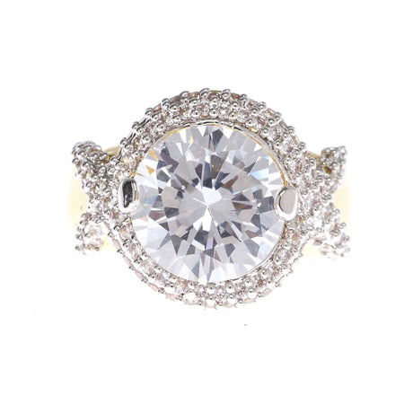 Round Cubic Zirconia Statement Ring - Viamar Jewelry