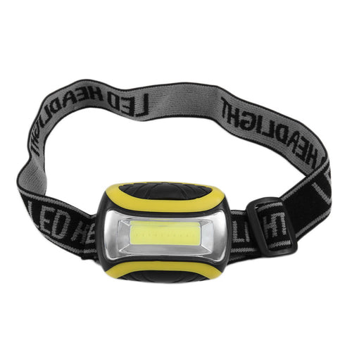 Black & Yellow LED Headlight