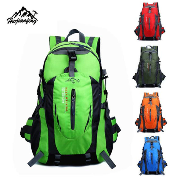 Brand 40L Outdoor mountaineering bag Hiking Camping Waterproof Nylon Travel Backpack-Back Packs-Camping Gear Plus