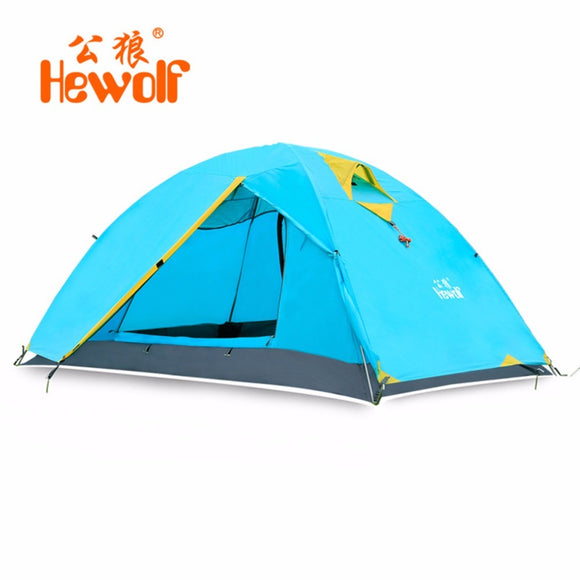 Hewolf Waterproof Windproof Double Layer Tent 2 People Outdoor C&ing Tent One Bedroom u0026 One Living  sc 1 st  C&ing Gear Plus & Camping Tents u2013 Camping Gear Plus