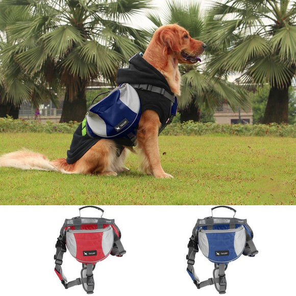 TAILUP Medium Size Outward Pet Dog Backpacks Pet Saddle Bag For Training Camping Hiking Traveling Carrying Food Drink Newest-Back Packs-Camping Gear Plus