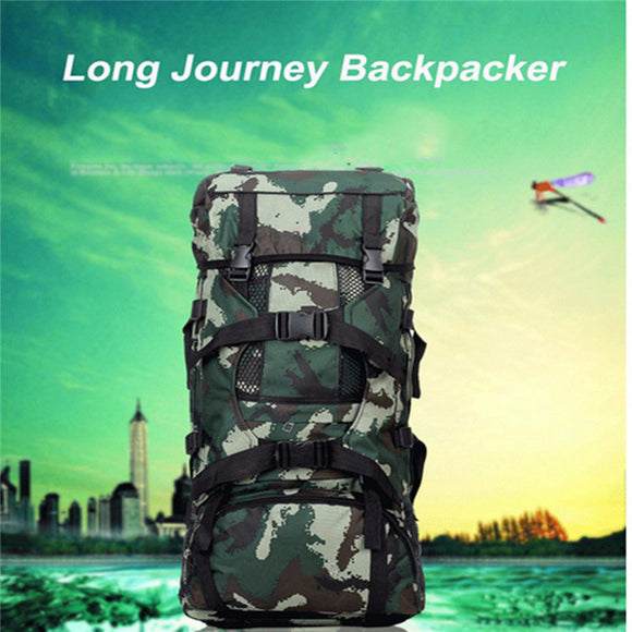 Brand 90L Outdoor Trekking Backpack Rucksack Mountaineering Shoulder Bag Camo For Camping Hiking Climbing Accessories-Back Packs-Camping Gear Plus