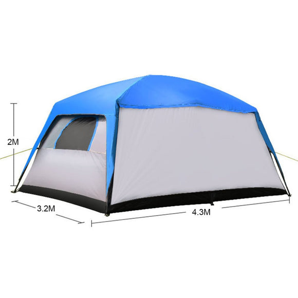 Free Boat Camel Outdoor Camping Picnic Hiking Rainproof Weather Resistant Large Tent Sun Shade Tent Suitable For 8-12 People