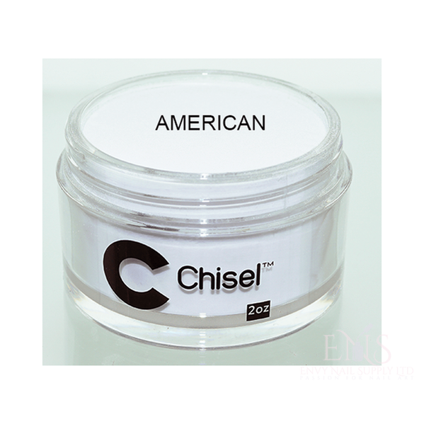 CHISEL ACRYLIC & DIPPING 2 OZ - PINK & WHITE - AMERICAN