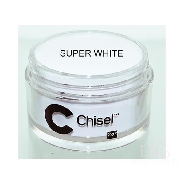 CHISEL ACRYLIC & DIPPING 2 OZ - PINK & WHITE - SUPER WHITE