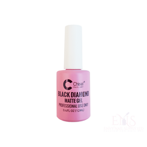 Dip Nails Dip Powder Nails CHISEL LIQUID .4 OZ - BLACK DIAMOND MATTE TOP GEL