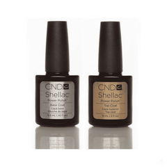 CND Gel Base & Topcoat Base coat CND Shellac Polish Gel UV Base 12.5ml and Top Coat 15ml
