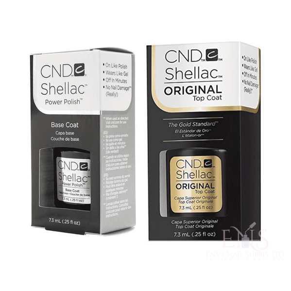 CND Shellac Polish Gel UV Base 7.3ml and Top Coat 7.3ml