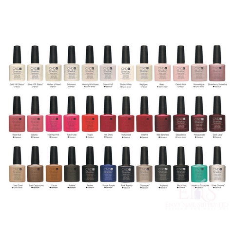 CND Gel Polish CND Shellac Gel Polish Colours Full Set 128 Bottles