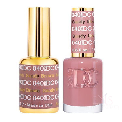 DND Gel Polish DND DC Duo - Sandy Brown (040)