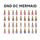 DND DC MERMAID GEL - 220 BUBBLE BATH