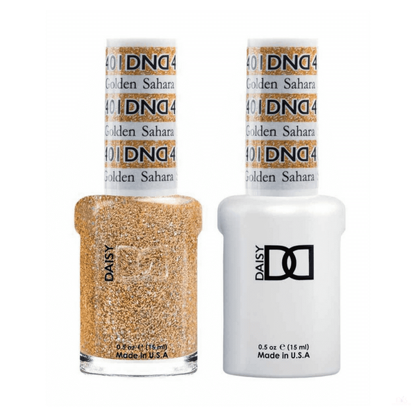 DND *Duo Gel* Gel & Matching Polish - 401 Golden Sahara Star