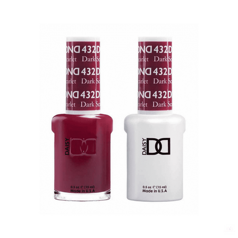DND Gel Polish Duo Gel - 432 Dark Scarlet