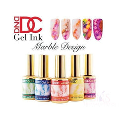 DND Gel Polish Single DND DC Marble Ink Gel Polish – Full set 15 colors