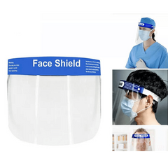 ENS Facemask Face Shield Full Face Covering Anti-Fog Shield Clear Glasses Protection