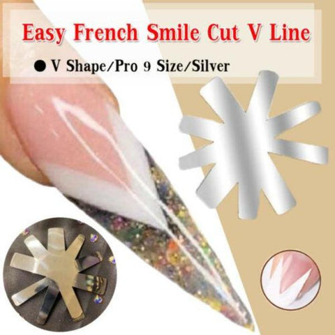 ENS Nail Supply Cutter French Smile Cut V Line Almond shape Tips Manicure Edge Trimmer Nail Cutter