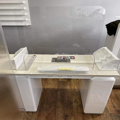 ENS Nail Table Nails Table Screen Shield Protective Acrylic Glass