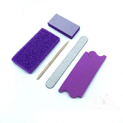 ENS pedicure disposable kit 5Pcs Disposable Nail Pedicure Set Kit With Toe Separator