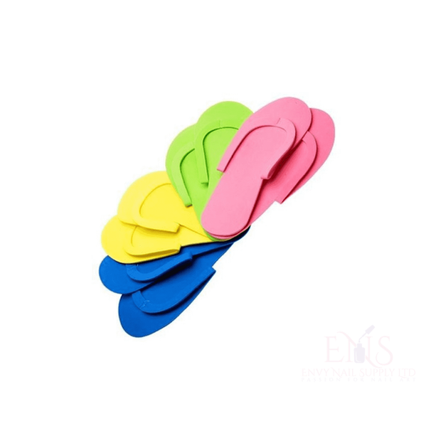Sewed Strap Reusable Pedicure Slipper - Pack of 10