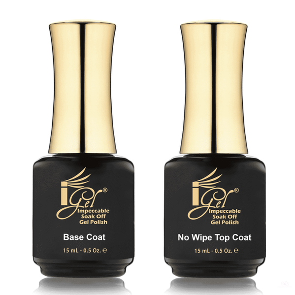 IGEL DUAL - BASE COAT + NO WIPE TOP COAT