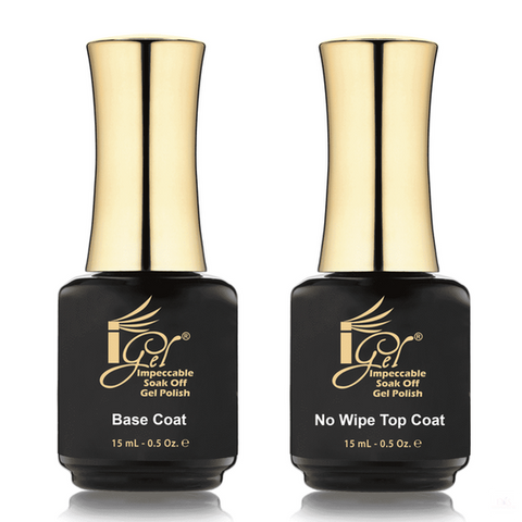 iGel Gel Base & Topcoat IGEL DUAL - BASE COAT + NO WIPE TOP COAT