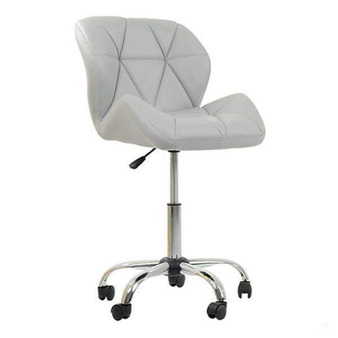 Lake Client Chairs White Salon hairdressing chairs beauty stool with backrest