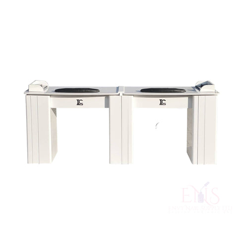 LC Nail Table Nail Technician Table LC  ZN4B - Double White