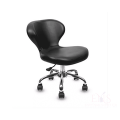 Lexor Client Chairs Black Manicurist Chairs Salon Chair Nail Technician Chairs Beauty Stools Classic Curved