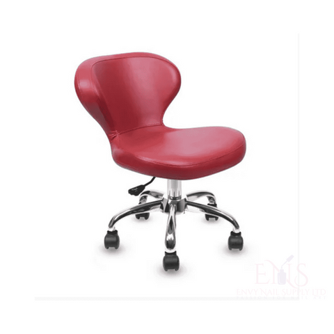 Lexor Client Chairs Burgundy Manicurist Chairs Salon Chair Nail Technician Chairs Beauty Stools Classic Curved