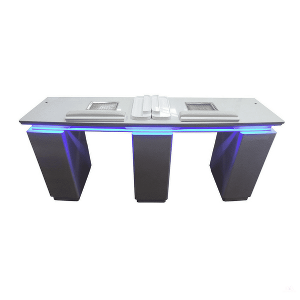 Double Nail Technician Table Nail Station With Extractor