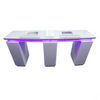 Double Nail Technician Table Nail Station With Extractor Fan LED Light