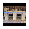 Double Nail Technician Table Nail Station With Extractor Fan Nails Desk Ban Doi