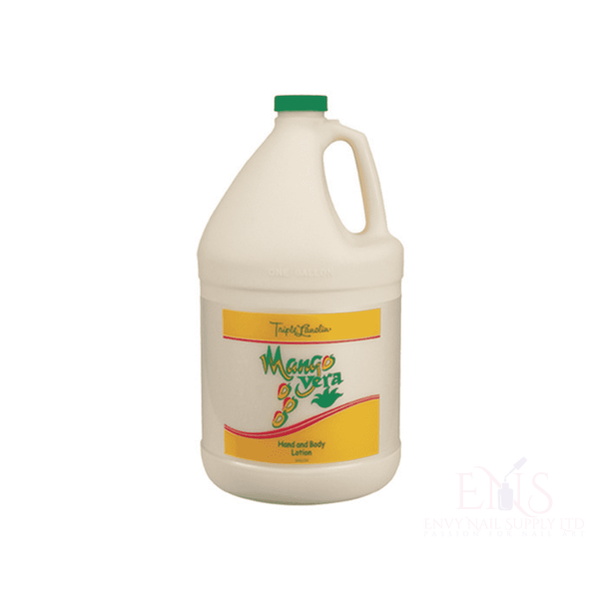 Triple Lanolin Mango Vera Hand and Body Lotion 1 gallon.