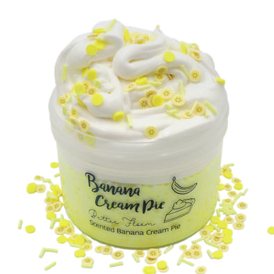 Banana Cream Pie Crunchy Layered Sprinkles Yellow Butter Floam Slime Fantasies Shop 8oz Front View