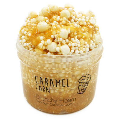 Caramel Corn Crunchy Clear Glue Floam Slime 8oz Front View
